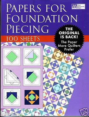Papers For Foundation Piecing - 100 sheets (21.8cm x 28.1cm)