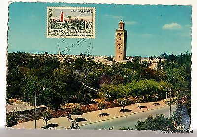 Carte Maximum  Maroc La Koutoubia A Marrakech    Av159