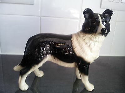 Large Coopercraft pottery collie dog