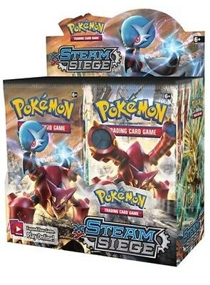Pokemon TCG XY Steam Siege - Booster Box (36) Brand New Sealed Foil Packets