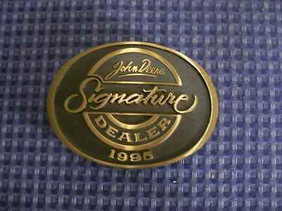 John Deere Signature Dealer 1995 Brass Belt Buckle