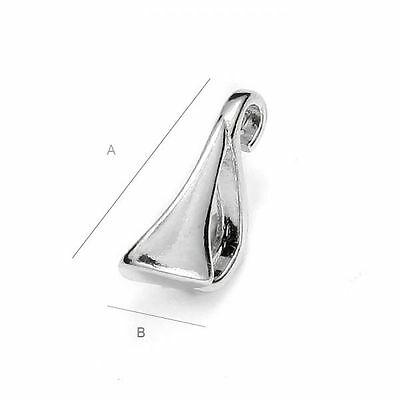 High Quality pinch Bail pendant Sterling Silver 925 best forSwarovski crystals