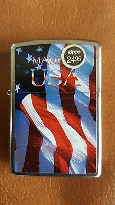 ** Brand New Made In Usa American Flag Zippo Lighter - Unused & Unboxed -2011 **