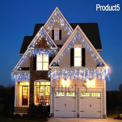 Christmas Xmas Icicle Lights White Blue&White Snowing LED 960/720/480/360/1200