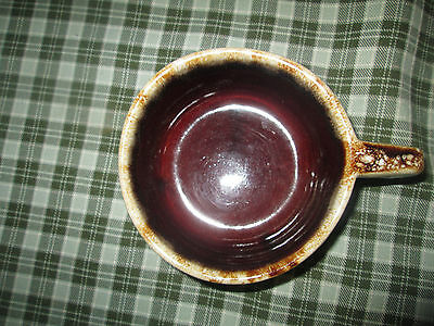 """Western Stoneware WS Maple Leaf Monmouth Brown 4 1/2"""" Drip Pottery Bowls Mugs"""