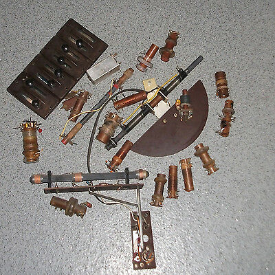 vintage used Radio Coils and other parts