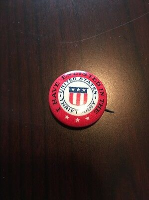 I Have Enlisted In The United States Thrift Army Pin