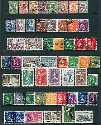 Finland Lot 1025 Suomi Postage Stamps 1946-1963 Michel 331-567 parts
