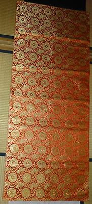 Rare Antique Japanese Silk Gold Brocade Textile Hanging Scroll Priest Noh Doll ⑪