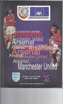 Arsenal v Manchester United FA Charity Shield Football Programme 1998