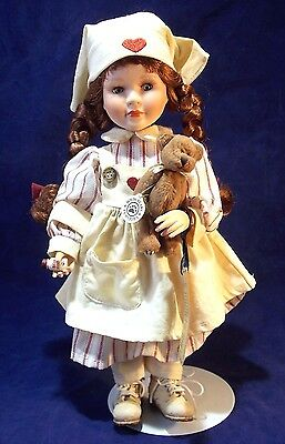 """Boyds 12"""" Doll CATHERINE & DOOLITTLE THE NURSE IS IN Yesterdays Child Collection"""