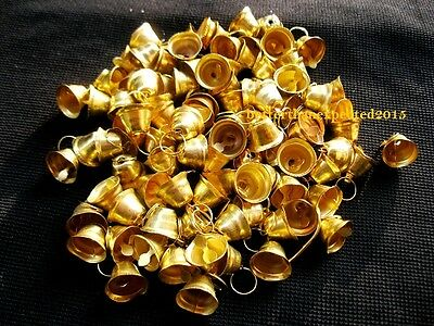 Decorative Handmade Traditional Brass Religious Small Bells Art Lots Of 101 Pcs
