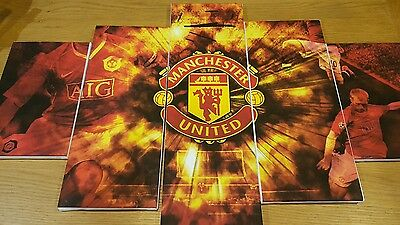 manchester united , canvas art , football, man utd