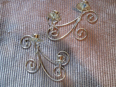 Vintage Dual Swirl Wall sconces/Art Decor sconce candle holders