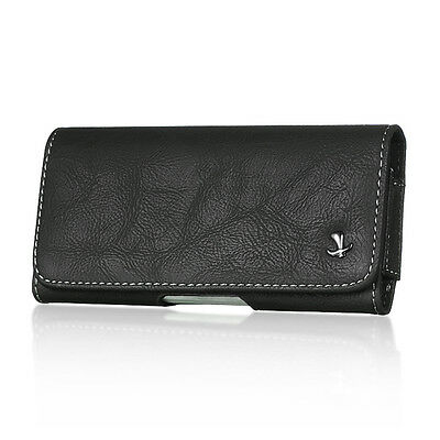 Black Leather Belt Clip Horizontal Holster Pouch Case for Apple iPhone 5 5S SE