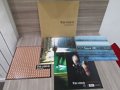 "THE VERVE 4 x 12"" SINGLES PACK LC 3098 1ST PRESS w. Envelope. ALL EX+ VINYLS"