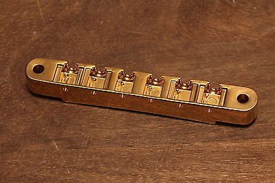 Gibson ABR-1 Nonwire USA Tune-o-Matic Bridge Base only Gold plated