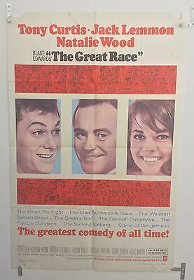 The Great Race Original One Sheet Movie Poster. 1965. Folded