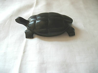 Ebony hand carved turtle