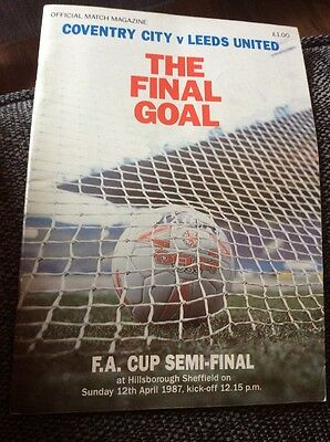 Coventry City v Leeds United 1987 FA Cup Semi Final Programme