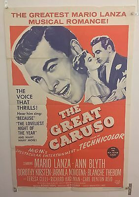 The Great Caruso Original One Sheet Movie Poster. 1962 Re-release. Folded
