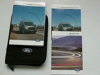 Ford Transit Owners Handbook, Blank Service Book 2015-2016