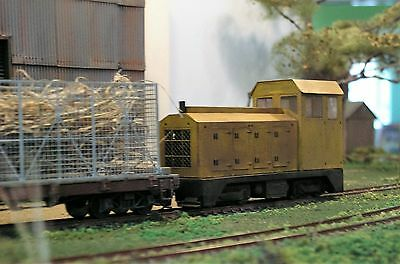 0n30   7mm Narrow Gauge    Etched Brass Bodyshell for a Baldwin type Diesel Loco
