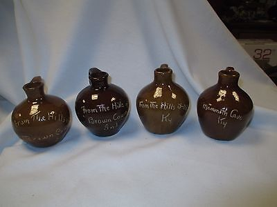 Lot Of 4 Scratch Jugs Brown County Indiana Mammoth Cave Ky Advertising Souviner