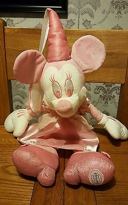 """Disney Store Exclusive Pink & White Princess Minnie Mouse Plush Soft Toy - 19"""""""