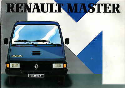 Catalogue publicitaire RENAULT MASTER TRAFIC utilitaire bus camping car