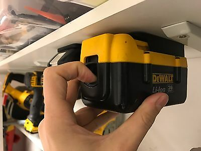 5x Stealth Mounts for DeWALT 36v BATTERY Holder Slot Shelf Rack Stand Van Truck