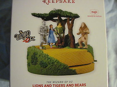 2013 Hallmark LIONS AND TIGERS AND BEARS Ornament WIZARD OF OZ New NIB