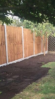 5 New Concrete Fence Posts (slotted) Never Been Used