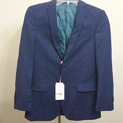 NWT Boys Isaac Mizrahi New York Navy Suit Jacket Dressy Two Button, Size 14