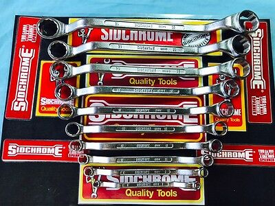Sidchrome Metric Ring Spanner Set 6 To 26mm MINT Australia Made Tools