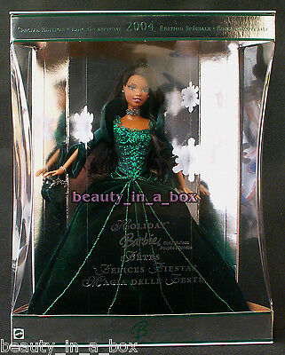 2004 AA Holiday Barbie Doll Foreign Model Celebration African American Christmas