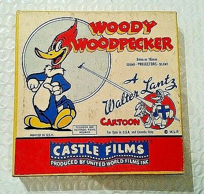 VINTAGE 8 MM MOVIE - Castle Films Woody Woodpecker RECKLESS DRIVER #468