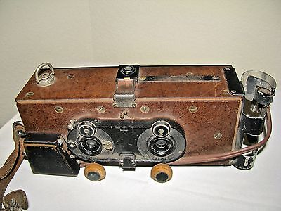 "Antique Stereo Camera,Voigtlander Lens, Homemade by the Mfg. of ""Contura"" Camera"