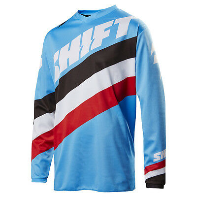 2017 Shift MX Youth WHIT3 Tarmac Jersey - Blue Motocross Offroad Trail Dirt
