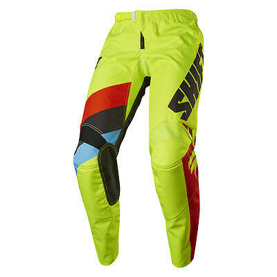 2017 Shift MX Youth WHIT3 Tarmac Pants - Flo Yellow Boys Motocross Offroad Dirt