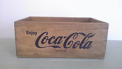 vintage coca cola advertising crate/box