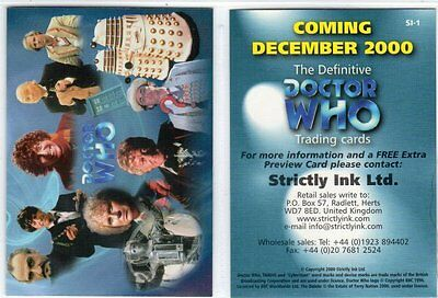 Promo- Doctor Who, The Definitive #SI-1 with copyright