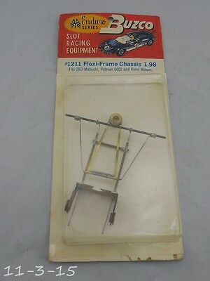 New Vintage Buzco Slot Car #1211 Flexi Frame Chassis Org Package NOS