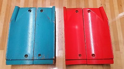 Vintage 1960 AMF Bowling Wood Gutter Adapters to Flat Gutter Never Used