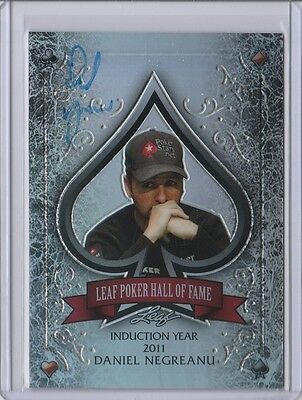 2012 Leaf Metal Poker Daniel Negreanu Hall Of Fame SP Auto #09/10 WSOP Autograph