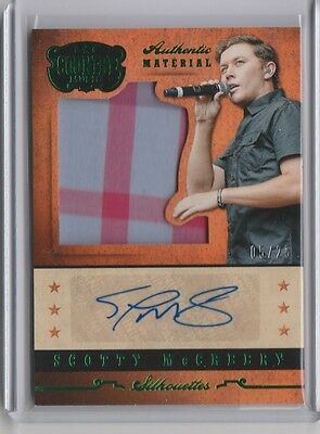 2015 Country Music Scotty McCreery Green Silhouette Auto #05/25 Singer Autograph