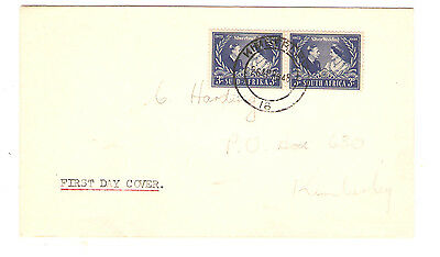 Suid Afrika 3d Silver Wedding King George First Day Cover South Africa G Cancel