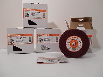 4 Walter Blendex Drums Medium 4 1/2 X 2 X 5/8-11 For Line Mate Sander