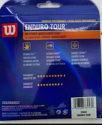 Wilson Enduro Tour 17 Tennis Strings Made in Germany