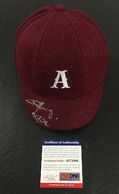 Rare Angus Young Signed Auto Official Ac/dc School Boy Hat Psa Dna Back In Black